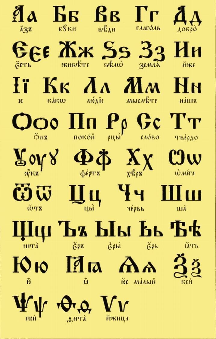 картинки старославянского алфавита печать фотографии